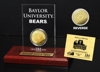 Baylor University Gold Coin Etched Acrylic