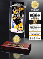Patrice Bergeron Ticket and Bronze Coin Desktop Acrylic