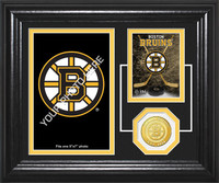 Boston BruinsFan Memories Bronze Coin Desktop Photo Mint
