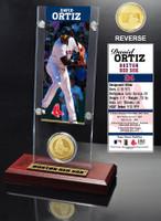 David Ortiz Ticket & Bronze Coin Desk Top Acrylic