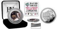 David Ortiz 500th Career Home Run Silver Color Coin