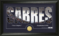 Buffalo Sabres Silhouette Bronze Coin Panoramic Photo Mint