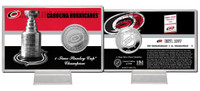 Carolina Hurricanes Stanley Cup History Silver Coin Card