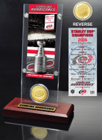 Carolina Hurricanes Stanley Cup Champions Ticket and Bronze Coin Acrylic Display