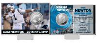 **Carolina Panthers Cam Newton 2015 NFL MVP Silver Coin Card LE