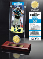 Luke Kuechly Ticket & Bronze Coin Acrylic Desk Top