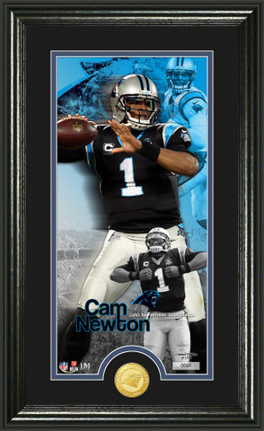 32dac0ae Cam Newton Supreme Bronze Coin Panoramic Photo Mint