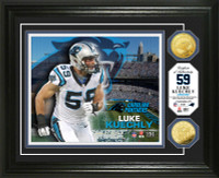 Luke Kuechly Gold Coin Photo Mint