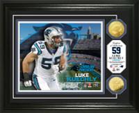 Luke Kuechly Gold Coin Photo Mint