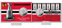 *Chicago Blackhawks 6-Time Stanley Cup Champions Silver Coin Card