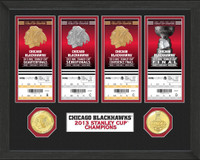 *Chicago Blackhawks Stanley Cup Ticket and Bronze Coin Collection