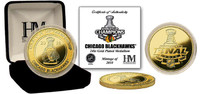 Chicago Blackhawks 2010 Stanley Cup Champions 24KT Gold Coin