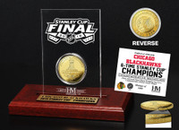 *Chicago Blackhawks 2015 Stanley Cup Champions Etched Display Gold Mint Coin