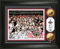 Chicago Blackhawks 2010 Stanley Cup Champions Celebration 24KT Gold Coin Photo Mint