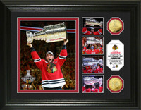*Chicago Blackhawks 2015 Stanley Cup Champions Triumph Gold Coin Photo Mint