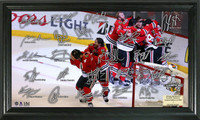 *Chicago Blackhawks 2015 Stanley Cup Champions Celebration Signature Rink