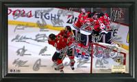 *Chicago Blackhawks 2015 Stanley Cup Champions Celebration Signature Rink