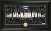 Chicago Blackhawks Silhouette Bronze Coin Panoramic Photo Mint