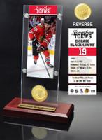 Jonathan Toews Ticket & Bronze Coin Acrylic Desk Top