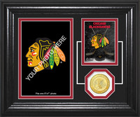 Chicago Blackhawks Fan Memories Bronze Coin Desktop Photo Mint