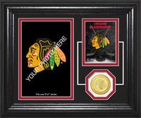 Chicago Blackhawks Fan Memories Bronze Coin Desktop Photo Mint
