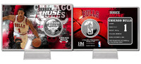 Derrick Rose Silver Coin Card