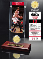 Joakim Noah Ticket & Bronze Coin Acrylic Desk Top