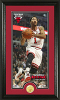 Derrick Rose Bronze Coin Panoramic Photo Mint