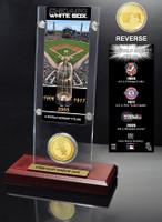 Chicago White Sox World Series Ticket & Bronze Coin Acrylic Desktop