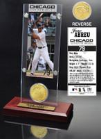 Jose Abreu Ticket & Bronze Coin Acrylic Desk Top