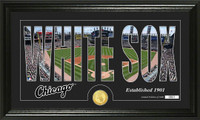 Chicago White Sox Silhouette Bronze Coin Panoramic Photo Mint