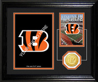 Cincinnati Bengals Framed Memories Desktop Photo Mint