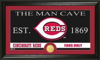 Cincinnati Reds The Man Cave Bronze Coin Panoramic Photo Mint