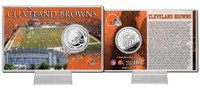 Cleveland Browns Silver Coin Card