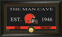 Cleveland Browns Man Cave Bronze Coin Panoramic Photo Mint