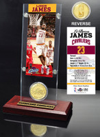 LeBron James Ticket & Bronze Coin Acrylic Desk Top