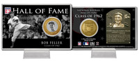 Bob Feller Class of 1962 Hall of Fame Bronze Coin Card