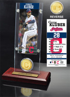 Corey Kluber Ticket & Bronze Coin Acrylic Desk Top