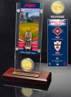 Cleveland Indians World Series Ticket & Bronze Coin Acrylic Desktop