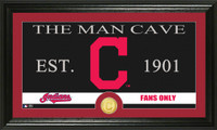 Cleveland Indians The Man Cave Bronze Coin Panoramic Photo Mint