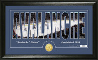 Colorado Avalanche Silhouette Bronze Coin Panoramic Photo Mint