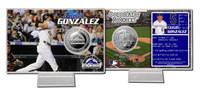 Carlos Gonzalez Silver Coin Card