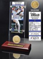 Carlos Gonzalez Ticket & Bronze Coin Acrylic Desk Top
