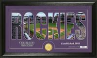 Colorado Rockies Silhouette Bronze Coin Panoramic Photo Mint