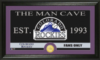 Colorado Rockies The Man Cave Bronze Coin Panoramic Photo Mint