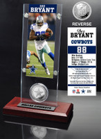 Dez Bryant Ticket & Minted Coin Acrylic Desk Top