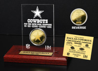 Dallas Cowboys 5x SB Champs Etched Acrylic