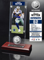 Jason Witten Ticket & Minted Coin Acrylic Desk Top