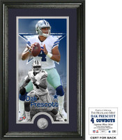 Dak Prescott Supreme Minted Silver Coin Photo Mint LE