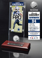 Randy Gregory Ticket & Minted Coin Acrylic Desk Top